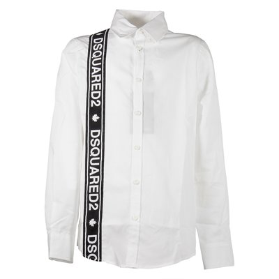 White shirt with logo band