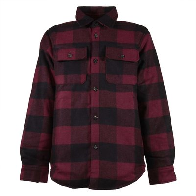 Red & black tartan flannel lined shirt