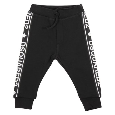 Black cotton sweatpants