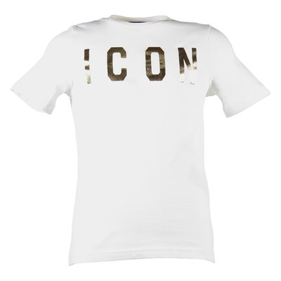 Icon white cotton jersey t-shirt