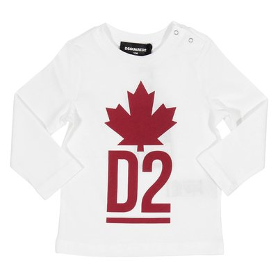 White Maple Leaf cotton jersey t-shirt