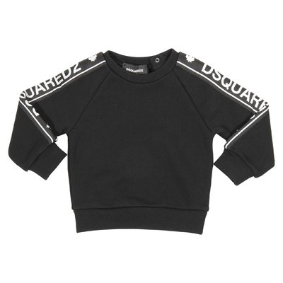 Black logo bands cotton sweatshirt