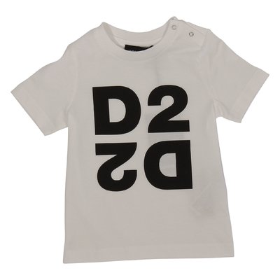 DSQUARED2 white logo cotton jersey t-shirt
