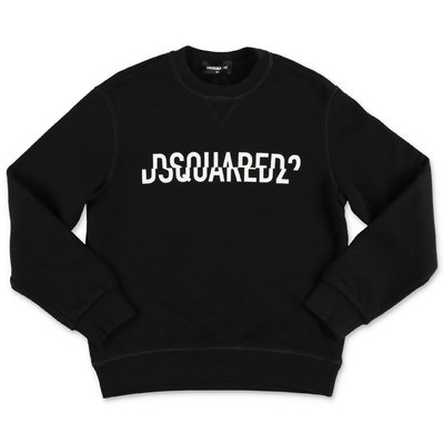 DSQUARED2 black logo detail cotton sweatshirt