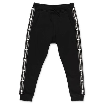 DSQUARED2 black cotton sweatpants