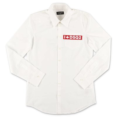 DSQUARED2 white cotton poplin shirt