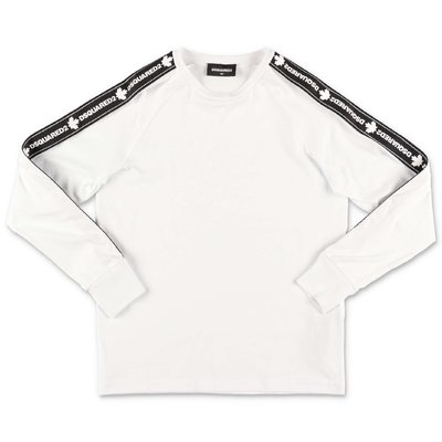 DSQUARED2 white logo detail cotton jersey t-shirt
