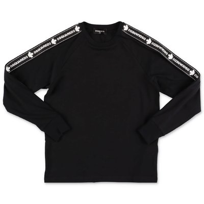 DSQUARED2 black logo detail cotton jersey t-shirt