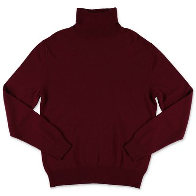 DSQUARED2 burgundy wool blend knit jumper