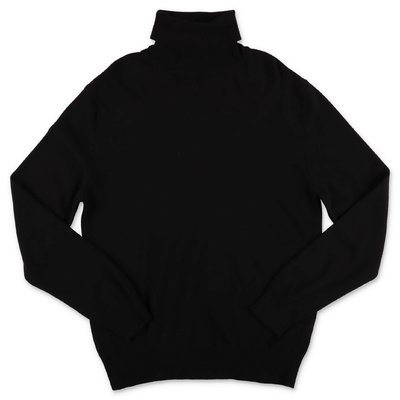 DSQUARED2 black wool blend knit jumper