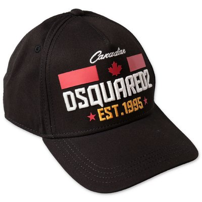 DSQUARED2 berretto da baseball nero in tela di cotone
