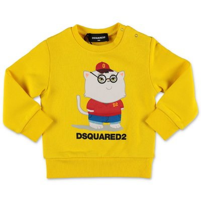 DSQUARED2 yellow cotton sweatshirt