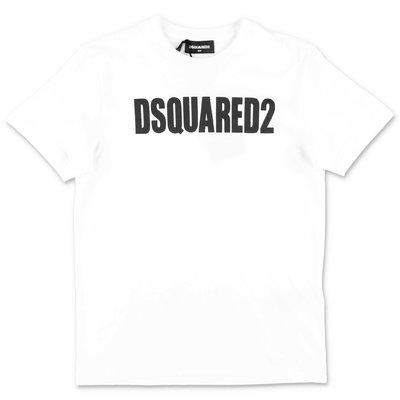 DSQUARED2 t-shirt bianca in jersey di cotone