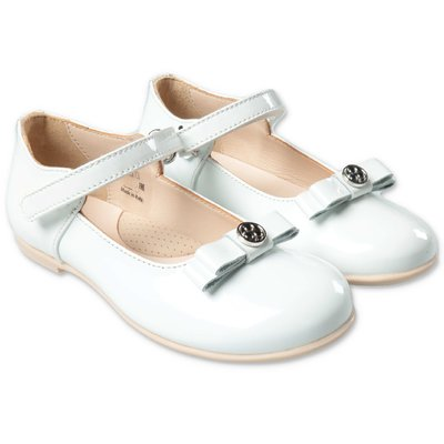 FLORENS white patent leather ballet flats