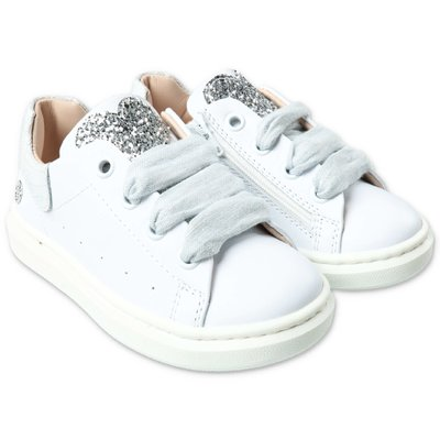 Florens white leather sneakers with laces