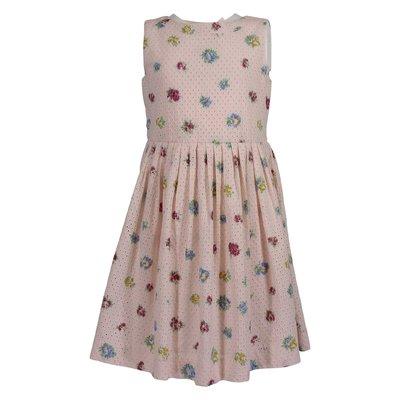 Pink floral print cotton dress