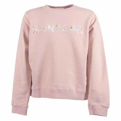 Felpa rosa in cotone con logo