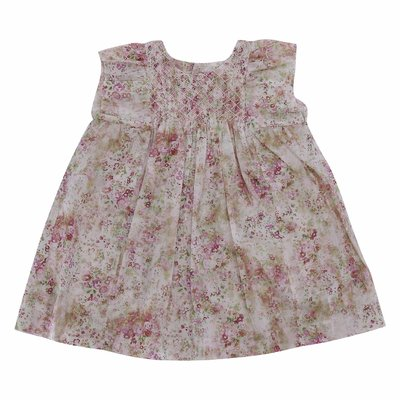 Liberty print cotton muslin dress