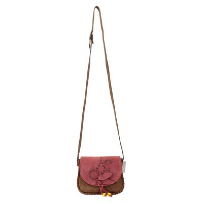 Brown suede country style bag
