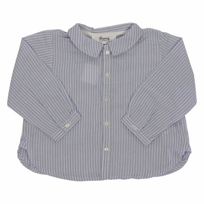 Light blue striped cotton shirt