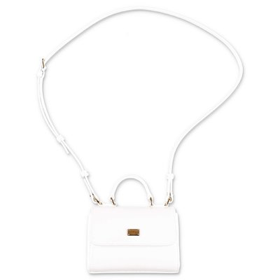 Dolce & Gabbana white patent leather shoulder bag