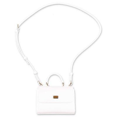 Dolce & Gabbana borsa a tracolla in vernice bianca