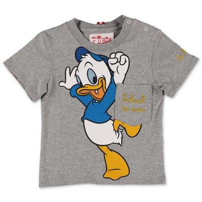 MC2 SAINT BARTH melange grey cotton jersey Disney t-shirt