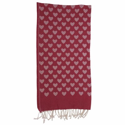 Fouta red cotton beach towel sarong