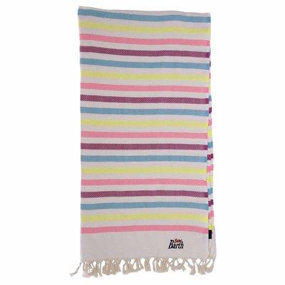 Fouta striped avory cotton beach towel sarong