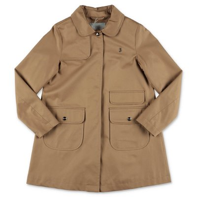 HERNO beige cotton canvas trench coat