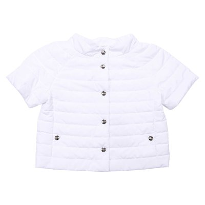 White nylon padded jacket