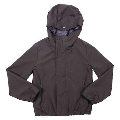 Military green nylon hooded jacket