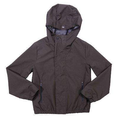 Military green nylon hooded jacket