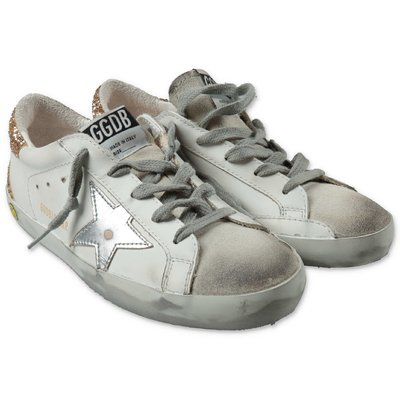Golden Goose sneakers bianche Super Star Classic in pelle con lacci