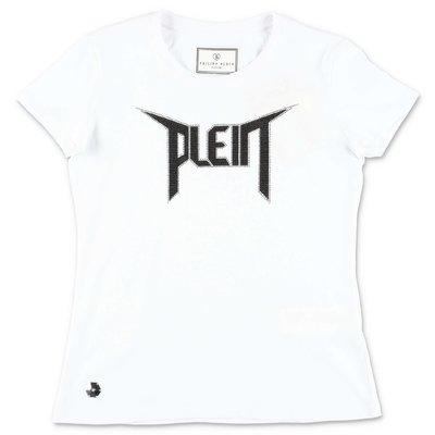 PHILIPP PLEIN t-shirt bianca in jersey di cotone