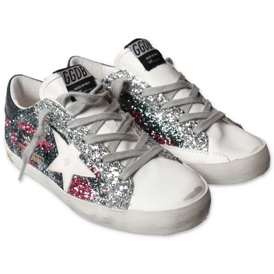 Golden Goose Super Star Edt glittery multicolor sneakers with laces