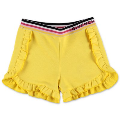 Givenchy lemon yellow cotton sweat shorts