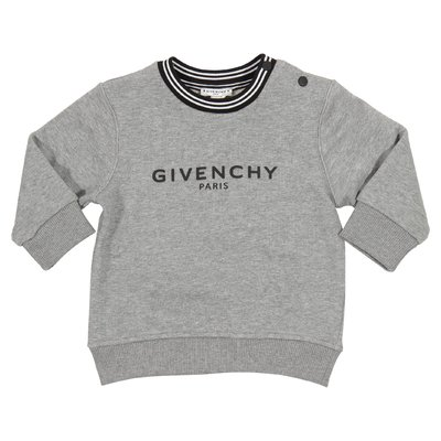 Marled grey logo cotton sweatshirt