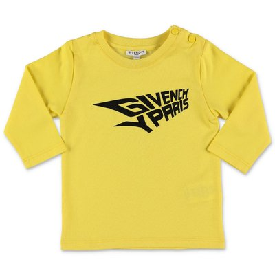 Givenchy logo lemon yellow cotton jersey t-shirt