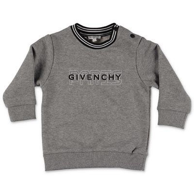 Givenchy melange grey logo detail cotton sweatshirt