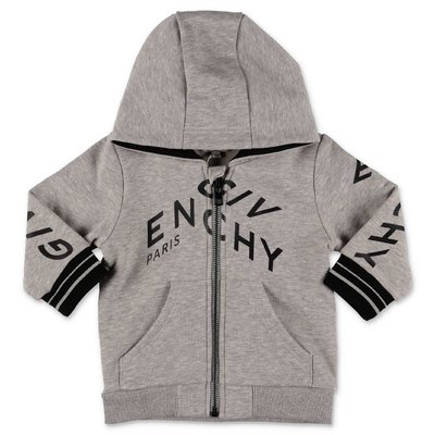 Givenchy melange grey cotton hoodie