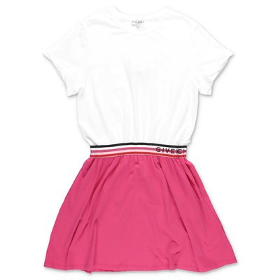 Givenchy white & fuchsia cotton jersey dress