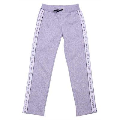 Pantaloni jogging grigio melange in cotone