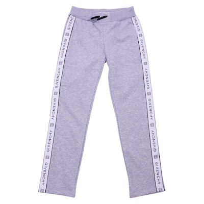 Marled grey cotton joggers