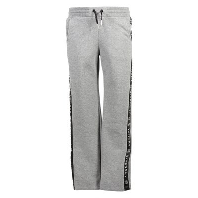 Marled grey logo cotton sweatpants
