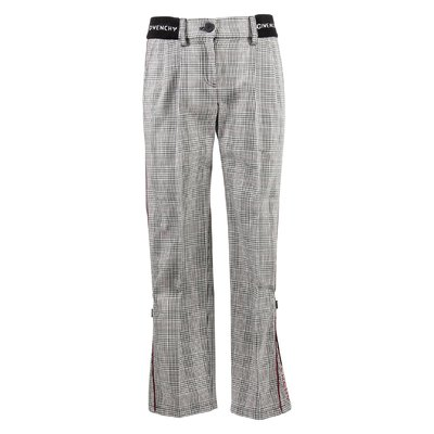 Cheched cotton pants