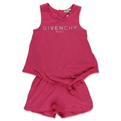 Givenchy fuchsia cotton jersey two piece effect jumpsuit