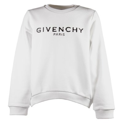 White vintage logo detail cotton sweatshirt