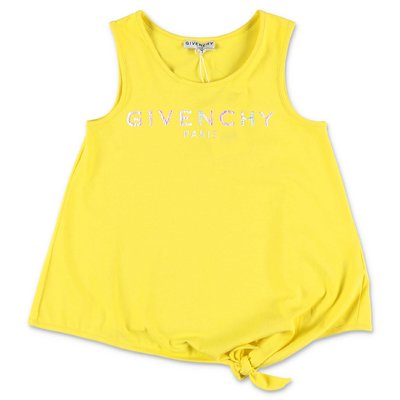 Givenchy yellow Vintage logo cotton jersey tank top