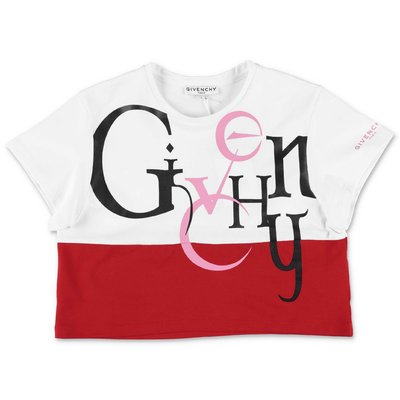 Givenchy white & red cotton jersey t-shirt